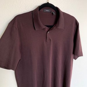 Maroon Theory Men's Standard Pique Polo Shirt